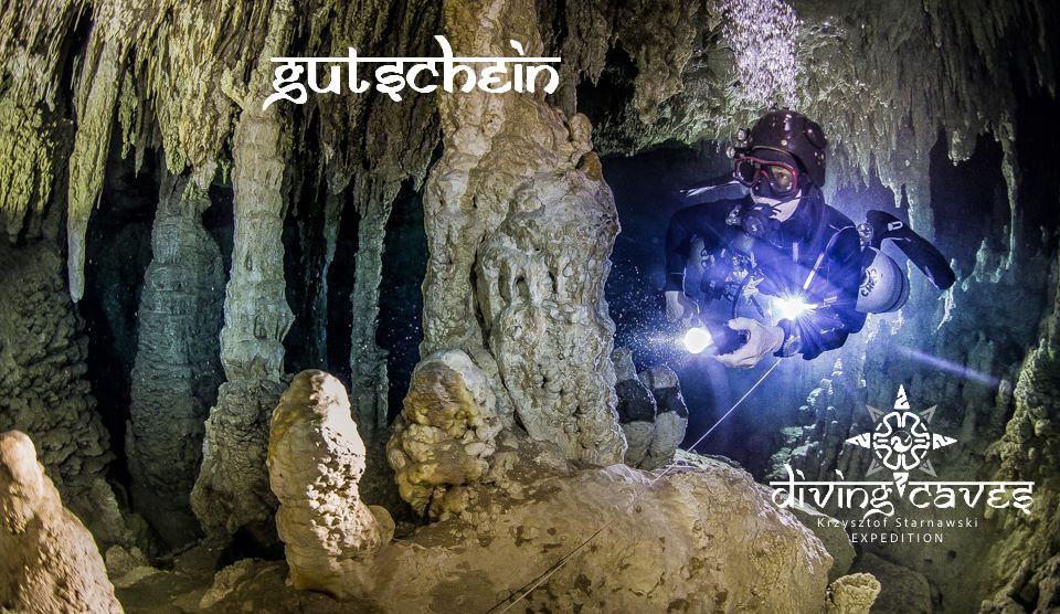 Gutschein für Grotten oder Höhlentauchen